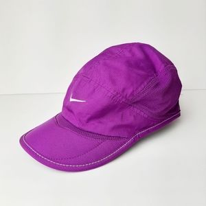 Nike Dri Fit Athletic Packable Mesh Cap Purple Hat